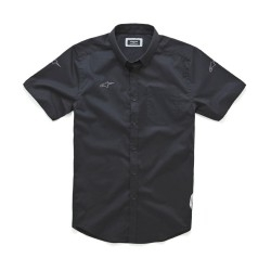 Aero short sleeve overhemd ZWART