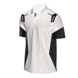Sparco Skid Collection polo WIT/ZWART