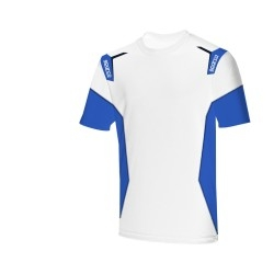 Sparco Skid Collection T-shirt WIT/BLAUW