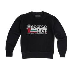 Sparco Next Generation sweatshirt voor kinderen ZWART
